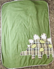Pottery Barn Kids Stegosaurus Dinosaur Sleeping Bag Nap Mat Brown White Gingham