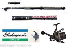 Shakespeare Fishing Omni Rd Reel & Oxygen 12 FT Carbon Travel Telescopic Rod