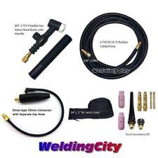 Weldingcity Dinse Rear Tig Welding Torch Wp 17fv Flex Valve 150a 25 Ft Air Cool