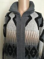 VTG 80s ~ TOWNCRAFT FULL ZIP SOUTHWEST DUDE SWEATER ~ Medium ~ The Big Lebowski