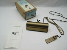 Vintage 6in Evenglow Picture Reflector wall light lamp Satin brass coated NOS  a