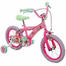 """OFFICIAL LOL SURPRISE 14"""" BIKE BICYCLE PNEUMATIC TYRES PINK 3+ YEARS"""