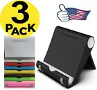 3 Pack Cell Phone Holder Phone Stand Foldable Desk Mount for Samsung MOTO iPhone