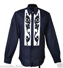 New VERSACE White Black Cotton Shirt