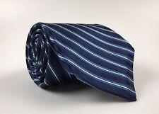 ROBERT TALBOTT CARMEL Recent Silk Necktie Hand Sewn_Blue/Gray Regimental Stripes