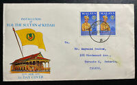 1959 Singapore Malaya First Day Cover FDC To Toronto Canada HH Sultan Of Kedah