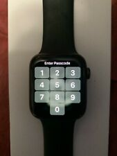 Apple Watch Series 6 44mm Space Gray Aluminum Case with Black Sport Band. GPS.