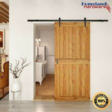 8 Foot Sliding Barn Door Hardware Kit [1-rail]  Free 2 Day Shipping