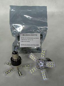 BlingLights White LED 1157 Spider Lite Bulbs Tail Lamps Rear Brake Stop Lights