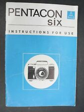 Pentacon Six 1970 Camera Instruction Book / Manual / User Guide