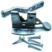 PERRY BUILDER'S HARDWARE GALVANISED AUTO GATE CATCH HEAVY DUTY INC. FIXINGS