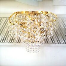 Curved golden crystal Wall Light