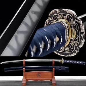 Top quality Clay Tempered T10 Steel Katana Real Hamon Japanese Samurai Sword
