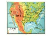 REPLICA MAP of USA in 1949 POSTCARD - FRENCH LANGUAGE - USA - NEW