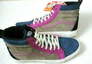 Vans Mens Sk8-Hi  Mte Skate shoes Gibraltar Sea Portabella Blue Pink Size 11 NWT