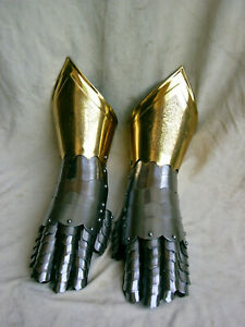 Halloween Medieval Gauntlets Perfect Armour Gloves For Historical Re-Enactments