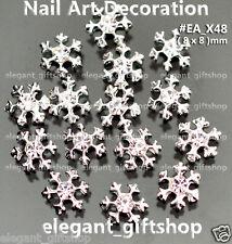10pcs Christmas Snow Flake Sliver Alloy Jewelry Nail Art Tips Decoration #EA_X48