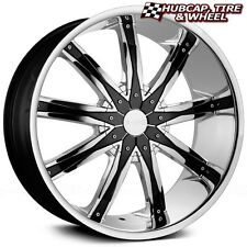 "DCENTI DW29 CHROME w/ BLACK INSERTS 28""x10 CUSTOM WHEELS RIMS (One Wheel) NEW"