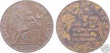Convention, 2 sols Liberté assise, Monneron, 1792 An IV, SUP - 3