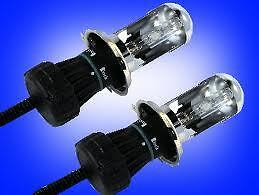 H4 High & Low  Xenon HID Replacement Bulbs 6000K UK SELLER