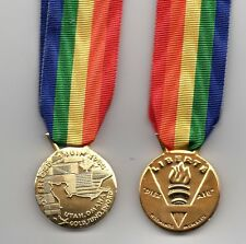 FRANCE OVERLORD MEDAL 6TH.,JUNE 1944 - FULL-SIZE and MINIATURE MEDAL