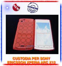 Custodia TPU CERCHI ROSSA per Sony ericsson Xperia X12 ARC