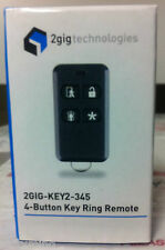Brand New 2GIG 2GIG-KEY2-345 4 Button Wireless Remote Keyfob, 2gig-key2 Battery