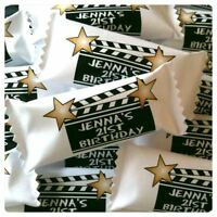 50 x Personalised Sweets Birthday Party Favours Hollywood Clipboard Stars Famous