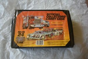 Vintage Matchbox Official Collector's Carry Case Holds 24 Cars with both  Trays