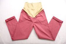 Ann Taylor LOFT Womens Maternity Pants Sz 2M #430422 Pink & Tan Pull On Jean New