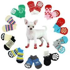 4pcs Soft Anti-Slip Dog Socks Boots Puppy Pet Cat Shoes Booties Paw Protector US