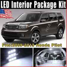 14X Super White LED Interior Lights SMD Package Deal 2009-2013 For Honda Pilot