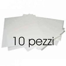 FOGLI IN CIALDA A4 BIANCHE DA STAMPARE 10 pezzi in ostia per Torroni