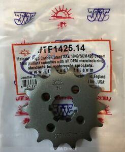 JT Standard 14 Tooth FRONT Sprocket for SUZUKI GSXR125 / GXS-S125 (2017 to 2020)