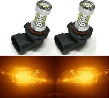 LED 80W 9005 HB3 Orange Amber Two Bulbs Head Light High Beam Replace Lamp