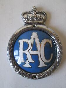 RAC type 2 chrome plated brass and Enamel badge 1960-73.RAC badge.AA badge.