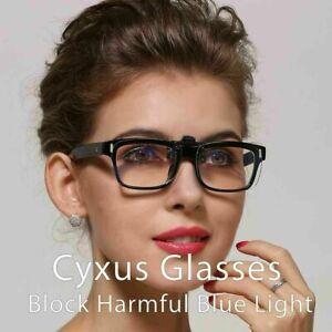 Cyxus Clip-On Clear Lens Blue Light Blocking Computer Glasses, Anti Eyestrain