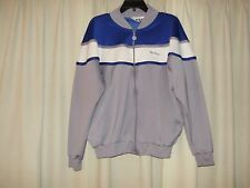 MENS/BOYS PULLOVER HOODIE BY MAC GREGOR SIXE LARGE BLUE, GRAY AND WHITE   SHINY