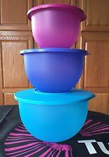 Tupperware Impressions Classic Mixing Bowls NESTING NEW 3pc Set BPA FREE SHIP