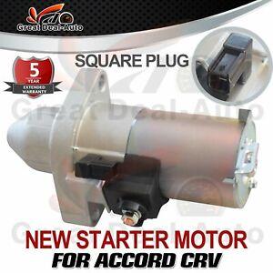 Starter Motor For Honda ACCORD EURO CL CM CP CR CU CRV RD RE RM 2.4L Square Plug
