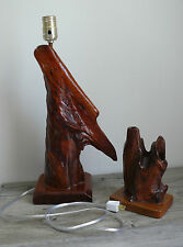 Cypress Knee Table Lamp & Sculpture Angel Wing Wood Vintage CP Niles S New Cord