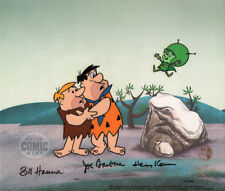 "FLINTSTONES ""THE GREAT GAZOO"" Ltd Ed Cel signed by Harvey Korman, Hanna-Barbera"