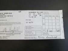 Chris Horsefield CZ Winnings Receipt TRANS-AMA 1971 MotoCross Races