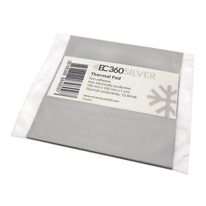 EC360® SILVER 12W/mK Wärmeleitpad (100 x 100 x 1,0 mm) I ThermalPad GPU RAM CPU