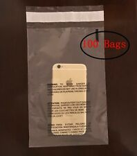 Clear Poly Suffocation Warning Self Seal Fba Bags Free Shipping