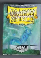 Dragon Shield Matte Clear (100) Shield Sleeves Free Shipping