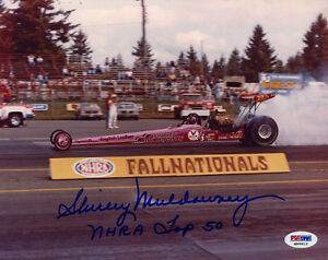 """Shirley """"Cha Cha"""" Muldowney SIGNED 8x10 Photo NHRA Dragster PSA/DNA AUTOGRAPHED"""