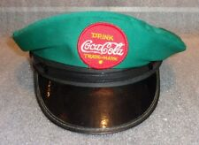old Coca Cola delivery man uniform hat with embroidered patch