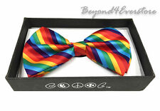 Men's Formal Wear Accessories Spiral Rainbow Color Bow Tie Costume party Event