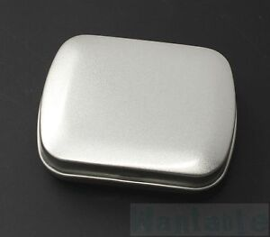 Small Silver Metal Tin Case Trinket Pill Box Tablet Holder Survival Camping